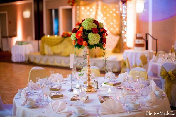 indian wedding reception table decor floral http://maharaniweddings.com/gallery/photo/7799