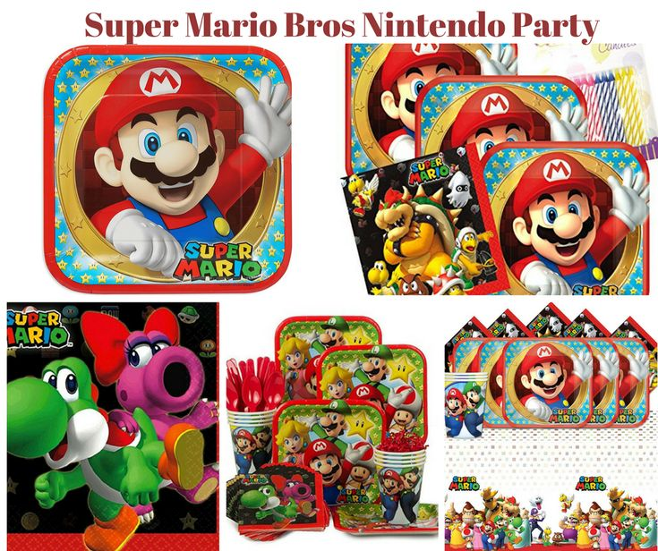 Super Mario Bros Nintendo Party