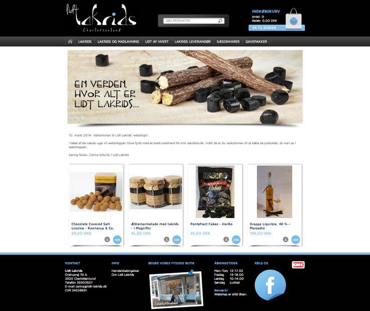 Webdesign til: http://lidt-lakrids.dk/