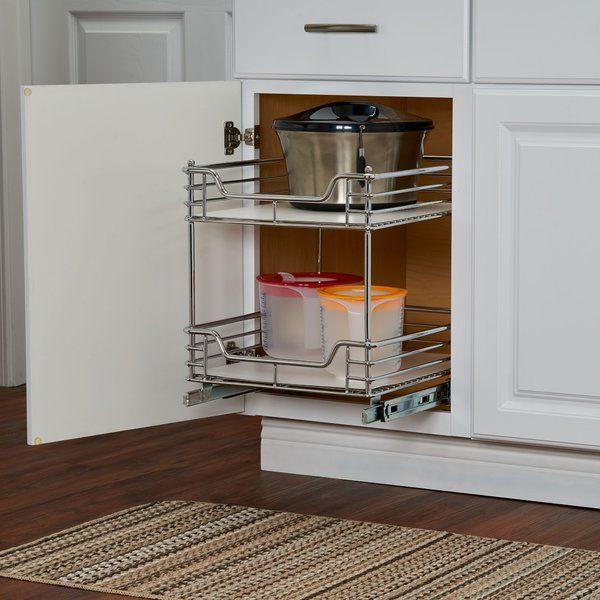 Cassity 2 Tier Sliding Pull Out Drawer Kitchen Base Cabinets Kitchen Storage Open Kitchen Shelves
