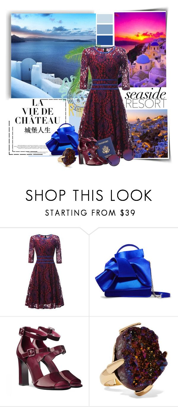 """""""Weekend Vacation--An Evening Out"""" by felicia-mcdonnell ❤ liked on Polyvore featuring N°21, Christopher Kane and McQ by Alexander McQueen"""