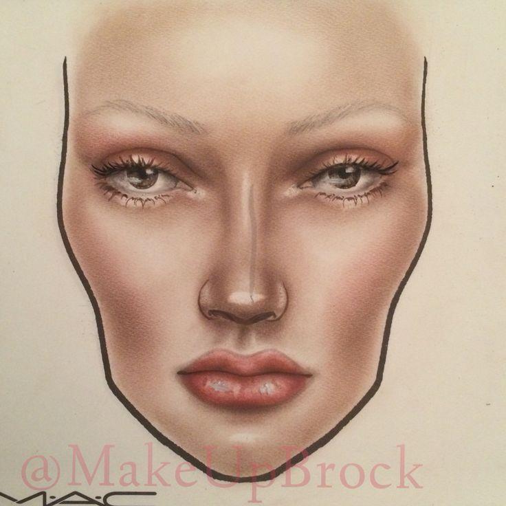 #facechart by MakeUpBrock