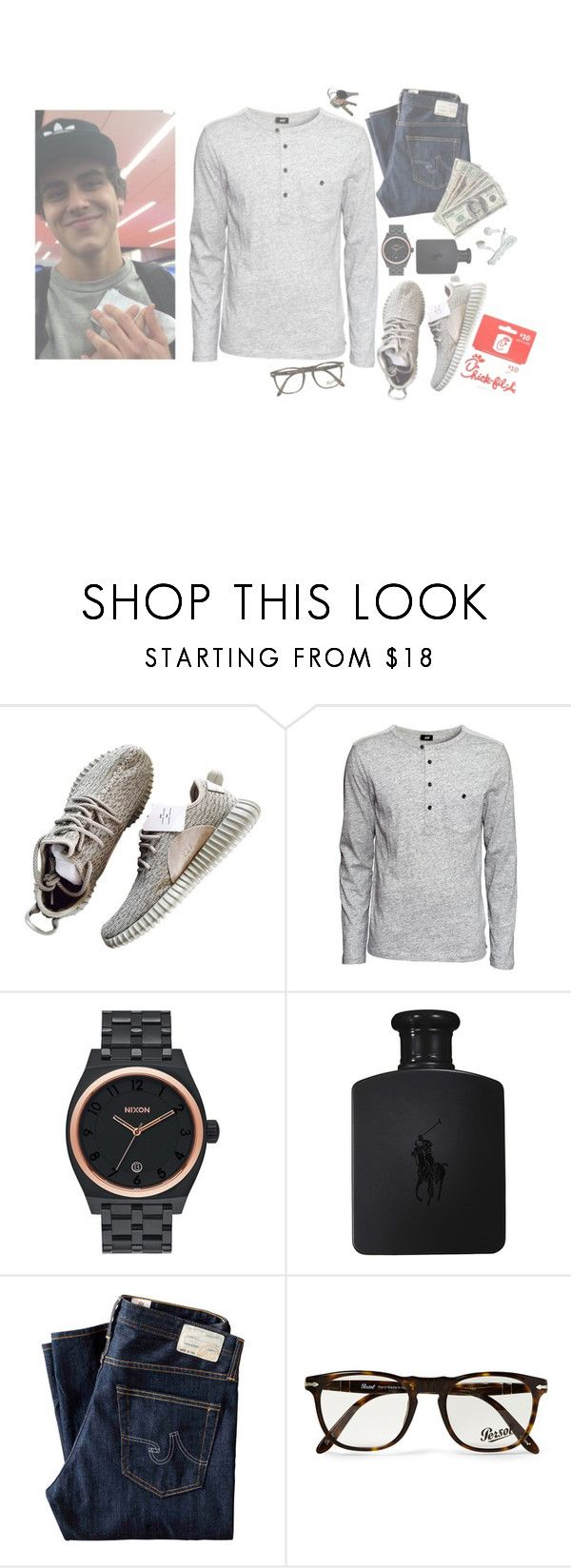 """I'm going to chick fil a at lunch"" by kingkxng ❤ liked on Polyvore featuring interior, interiors, interior design, home, home decor, interior decorating, H&M, Nixon, Ralph Lauren and AG Adriano Goldschmied"