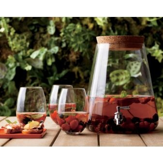 glass beverage dispenser (is it possible to find one without a plastic spigot?