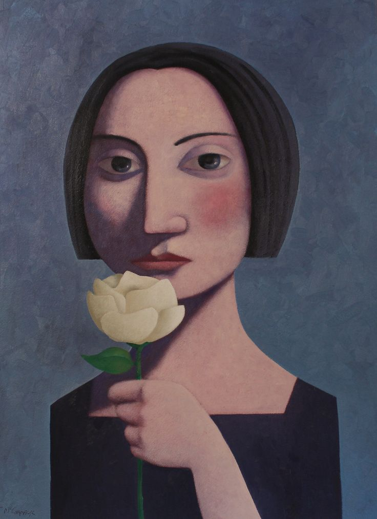 """""""Woman with Flower"""" by Kent McCormack"""