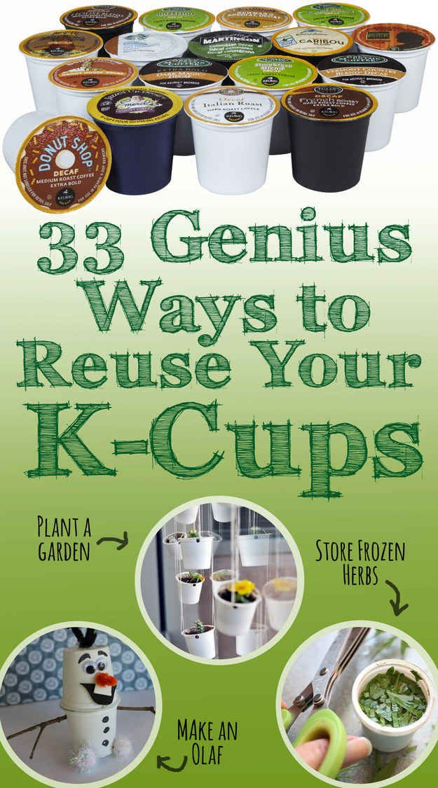 33 Ways To Reuse Your K-Cups: kids holiday crafts, science projects, and more. Prevent billions from ending up in a landfill.
