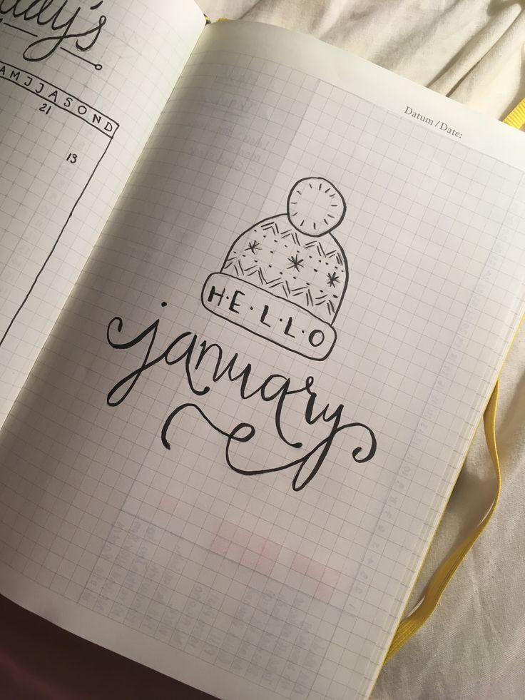 January lettering