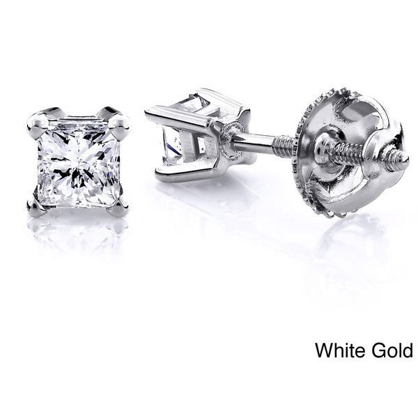 1000 ideas about Princess Cut Diamond Earrings on Pinterest