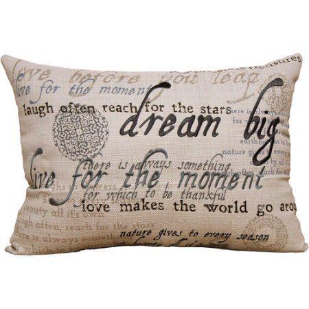 Better Homes and Gardens Sentiments Oblong Pillow