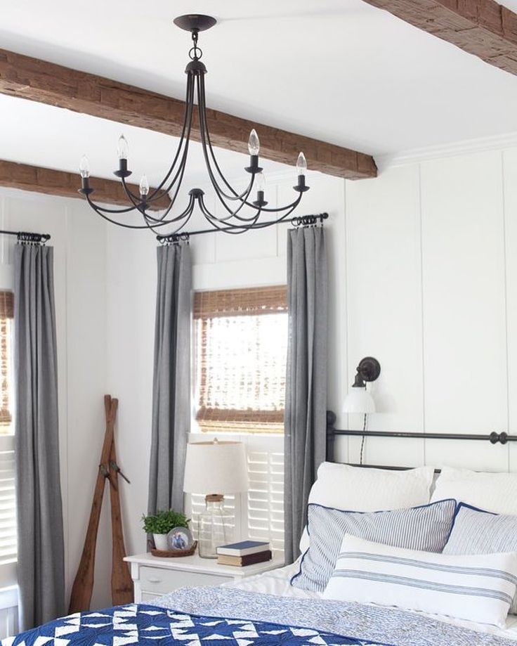 Master Bedroom Update: Faux Wood Beams (The Lettered Cottage)