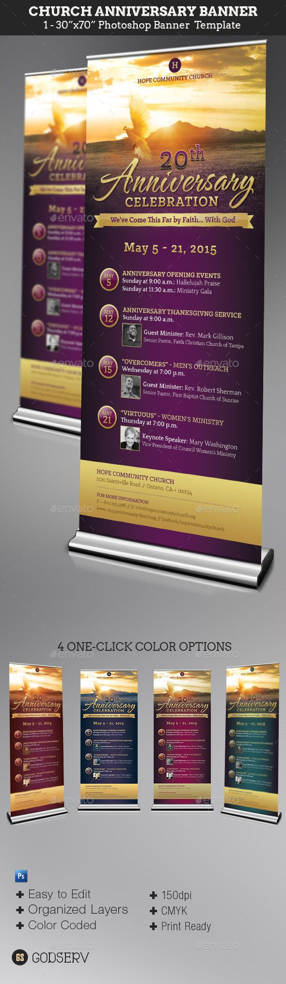 Church Anniversary Banner Template #design Download: http://graphicriver.net/item/church-anniversary-banner-template/11259043?ref=ksioks