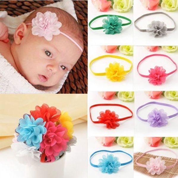 10pcs Girl Headbands Baby Flower Bands Toddler Infant Headband Hair Bow Band