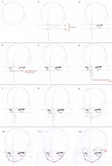 Heads and Hair Tutorial (Anime)