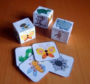 costruire dadi di carta
