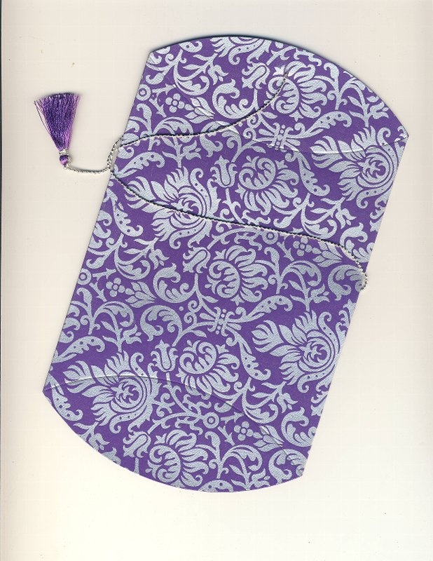 Purple-Silver # 94 Collapsible Pouch  (130)