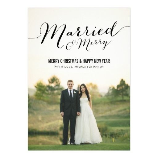Married Christmas Photo Flat Cards - @Tracy Lopez -cute for a thank you or xmas card after the wedding
