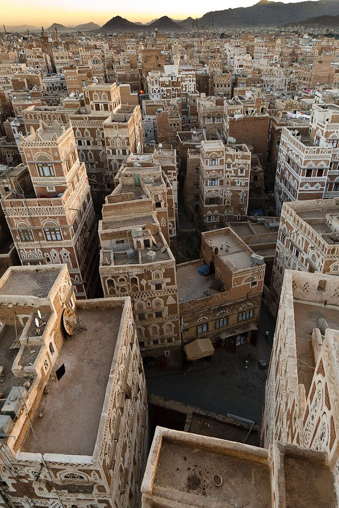 Sana'a, Yemen. Sana'a is one of the oldest continuously inhabited cities in the world. At an altitude of 7,500 ft., it is also one of the highest capital cities in the world.