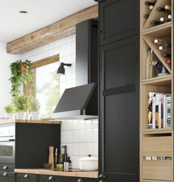 56 Black Kitchen Cabinet Ideas For Stylish Cooks 2020 Part 59 Ikea Kitchen Ideas Photo Examples 17 Ki Ikea Kitchen Design Ikea Kitchen Black Kitchen Cabinets