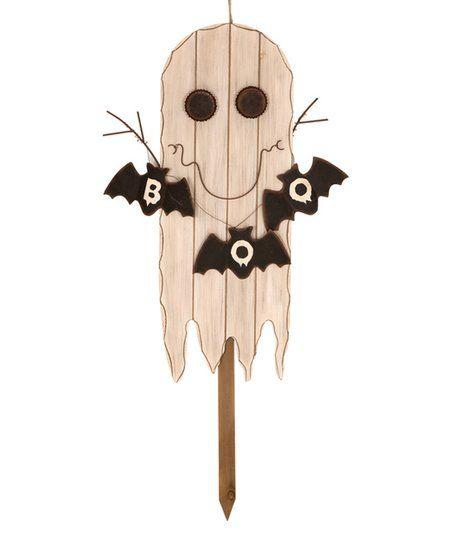 Glitzhome Primitive Ghost BOO Stake | zulily