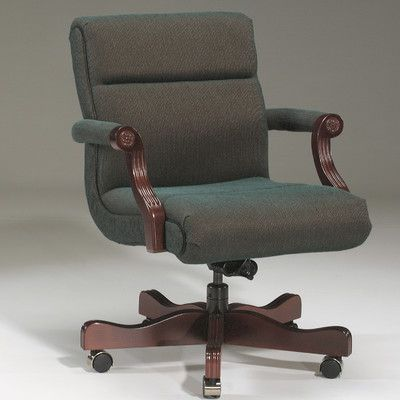 Triune Business Furniture Executive Chair Upholstery Color: Java, Frame Finish: Walnut, Tilt Mechanism: Not Included