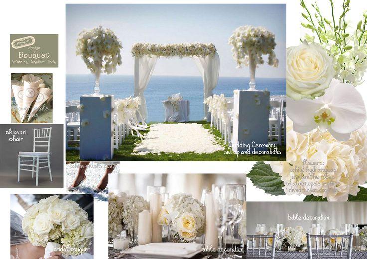 Elegant white wedding inspiration!
