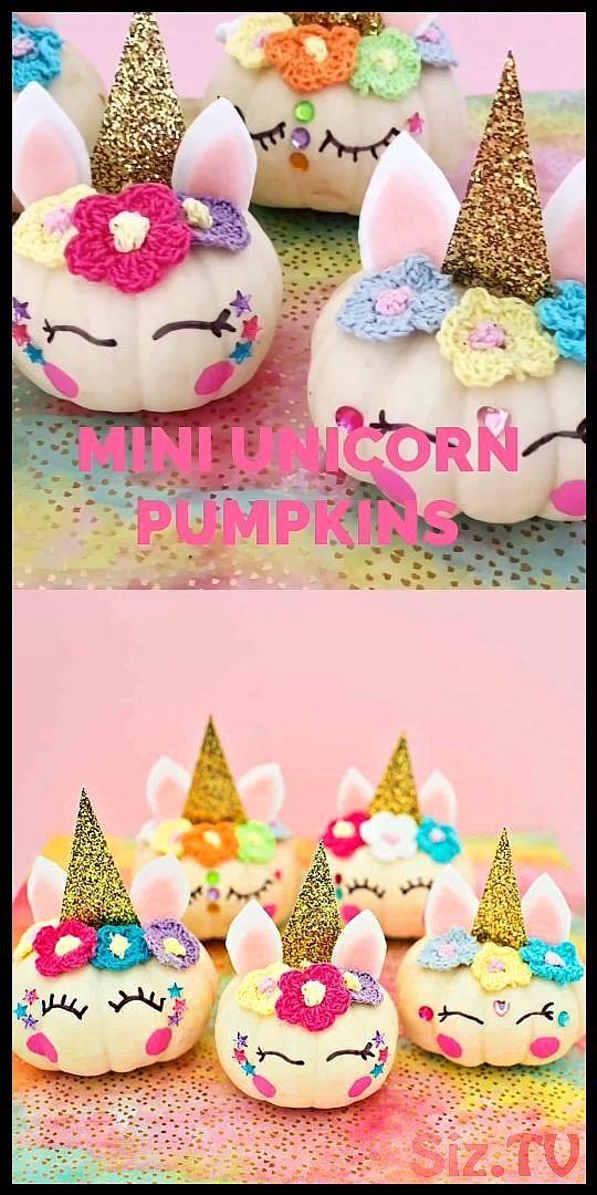 Mini DIY Unicorn Pumpkins Mini DIY Unicorn Pumpkin…