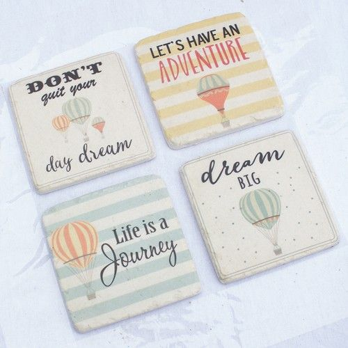 Resin Coaster Set of 4 - Dreams - Products - 1825 interiors