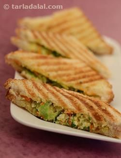 Sandwiches make sure you do not go hungry, any time of the day, any season, anywhere in the world! they offer a wonderful way to stay off junk food as they are handy, healthy and filling. Sandwiches can be made in several ways – from indulgent to lean, and this balanced and nutritious vegetable grilled sandwich features brown bread slices stuffed with cabbage, carrot and cheese. This thoughtful filling makes the sandwich a rich source of energy, calcium, protein and vitamin a.