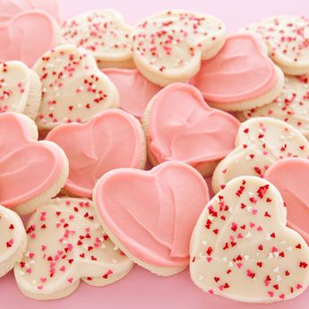Cheryls buttercream frosted heart valentines day cookies