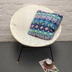 Vintage woven basket chair in white www.vintageactually.co.uk