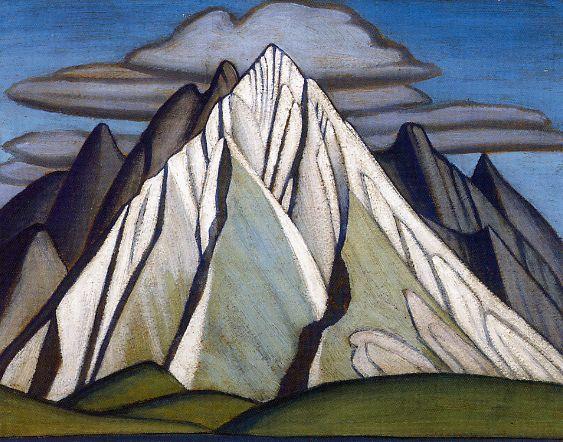 """Mountain Forms""  Lawren Harris, 1925"