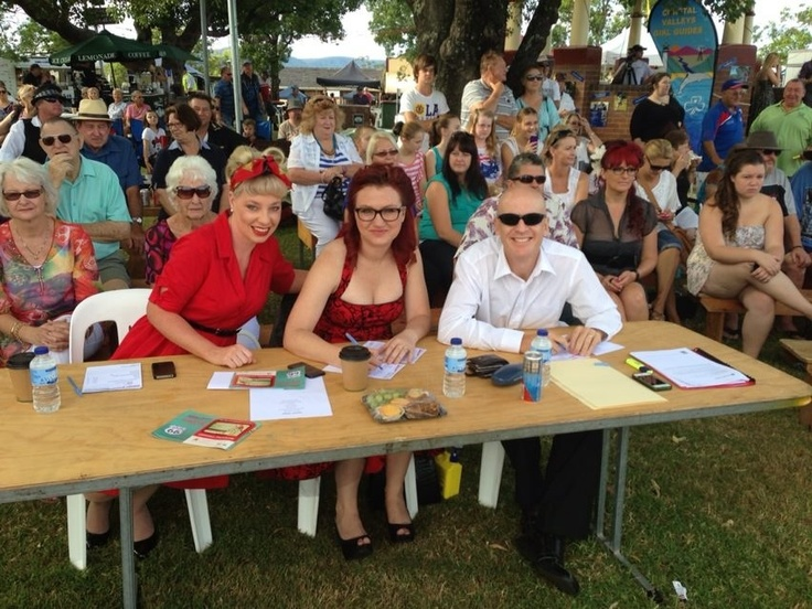 Judging vocal talent at the 2013 Kurri Kurri Nostalgia Festival.