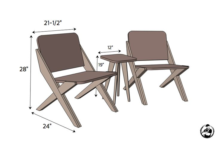 1 Sheet of Plywood = 2 Chairs + 1 Side Table || Free Plans1 Sheet of Plywood = 2 Chairs + 1 Side Table || Free Plans