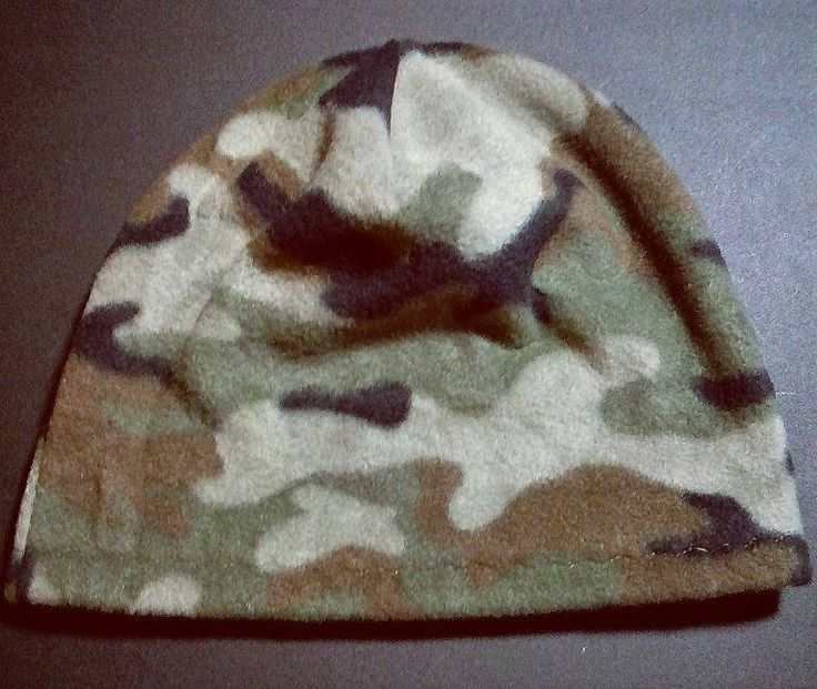 Excited to share the latest addition to my #etsy shop: Polar Fleece Camo Beanie Cap http://etsy.me/2E9EzWR #accessories #hat #brown #green #peeperdaydesigns