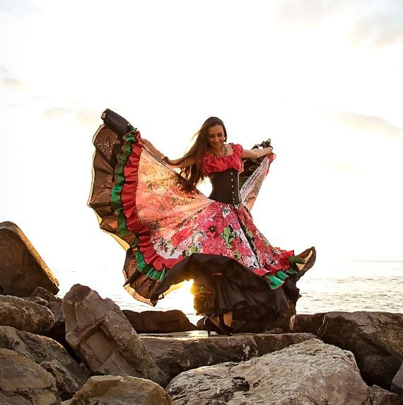 "Gypsy dance skirt ""Adelina"". Gypsy skirt. Dance wear. Цыганская юбка. Одежда для…"