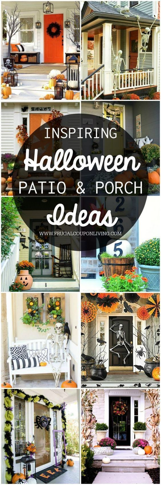 Boo-tiful Porch Halloween Ideas and Patio Inspiration - Inspiring Porch Halloween Ideas and Patio Inspiration for the October season. Outdoor Home Decorating Ideas to give you a friendly or scary Halloween home decor on Frugal Coupon Living.
