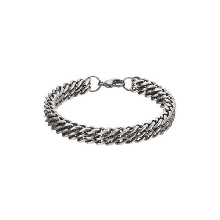 Focus FOR MEN Stainless Steel Chain Bracelet, Silver