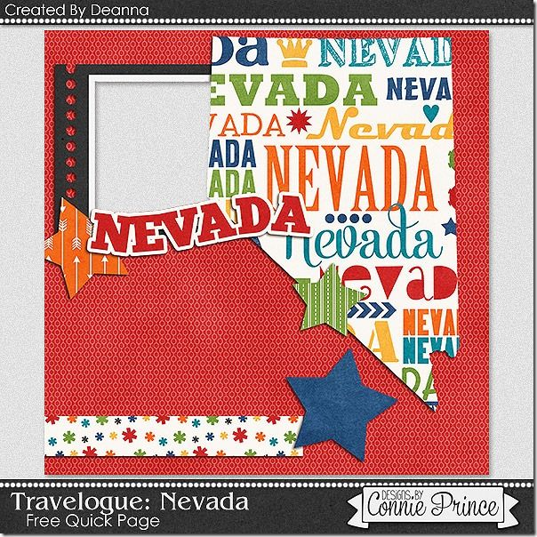 Today's freebie is another fantastic quick page freebie from the very talented Deanna!  This time she used Travelogue: Arizona.  Check it out and download it today!