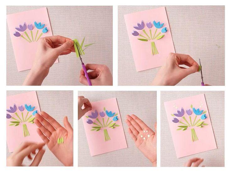 Открытка своими руками 8 марта картинки, рисунки несложные открытка