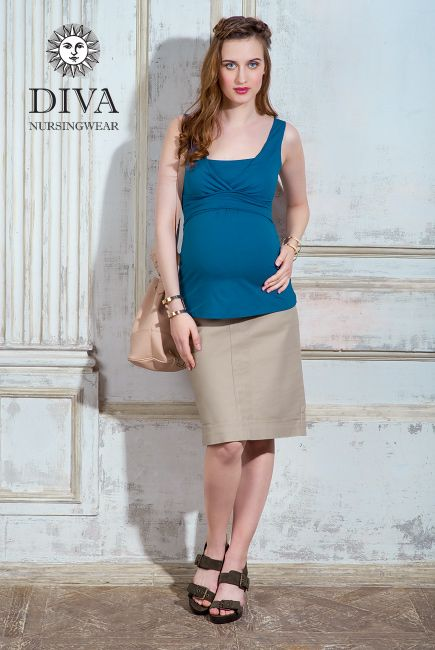 Diva Nursing Tops can be worn with any style and anytime: during pregnancy, during breastfeeding and afterwards! We ship to Canada and worldwide!