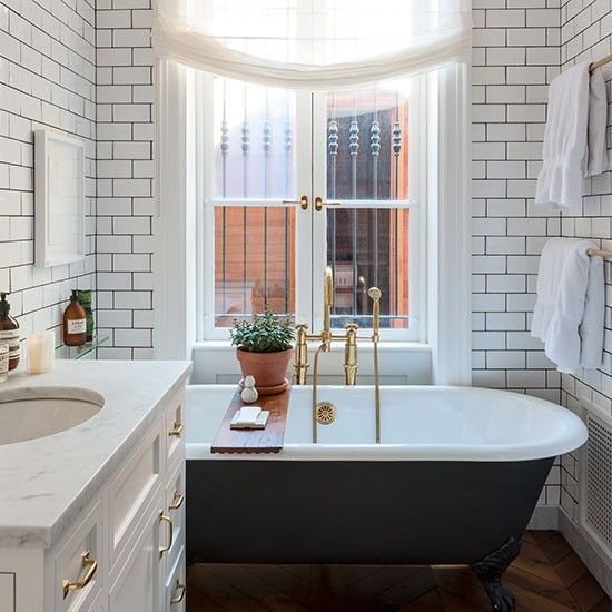 Bathroom | Be inspired by this smart yet elegant brownstone in New York | housetohome.co.uk