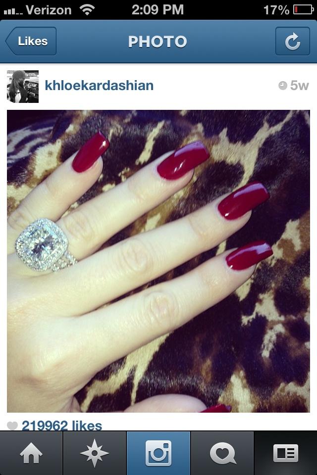 Khloe Kardashian nails & engagement ring | Style ...