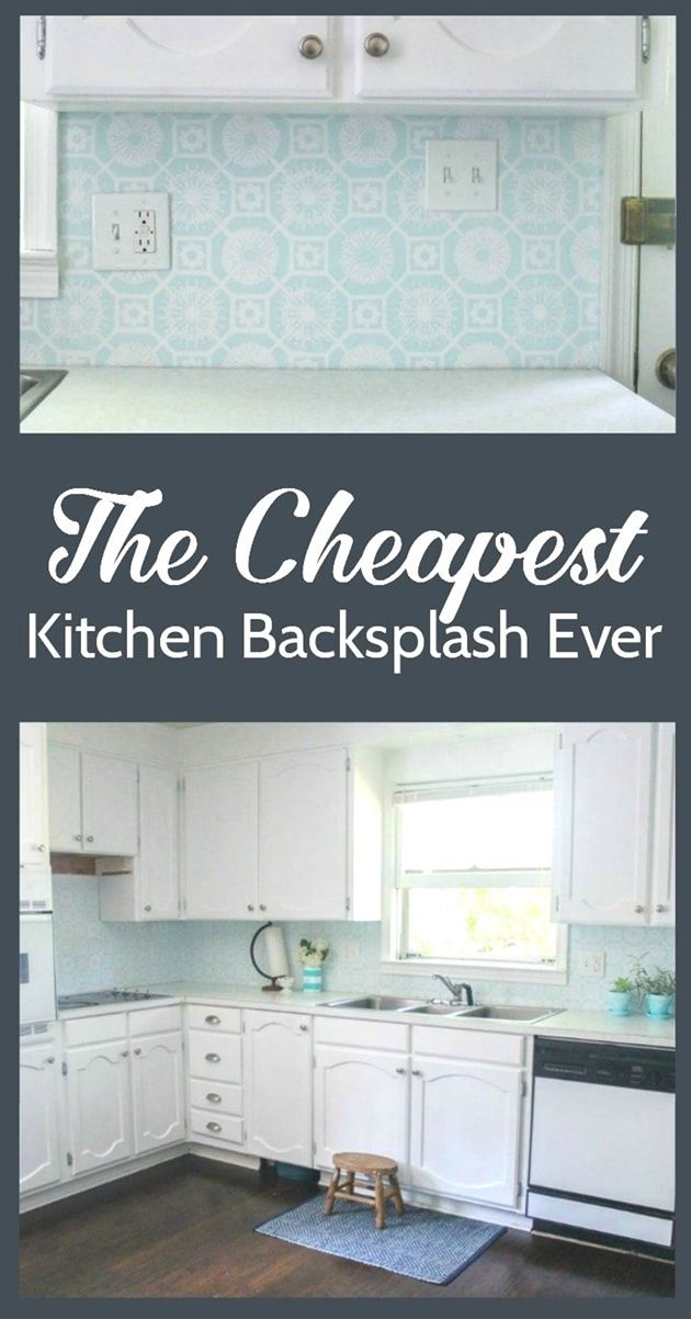 This super cheap backsplash looks amazing! Who knew a painted