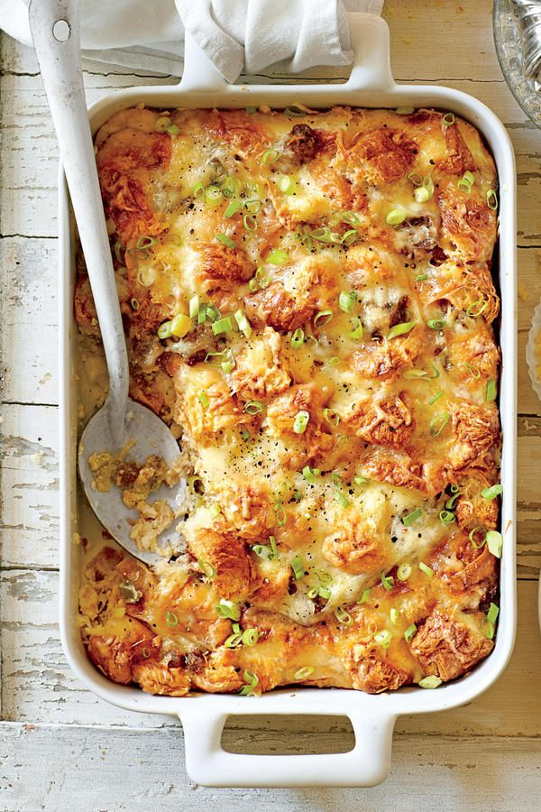 Our Favorite Breakfast Casseroles: Cheesy Sausage-and-Croissant Casserole