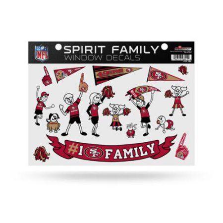 San Francisco 49ers Family Sticker 49ers, Multicolor
