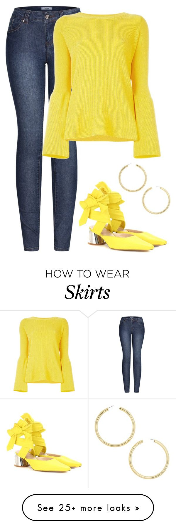 """Yellow"" by giulia-ostara-re on Polyvore featuring 2LUV, STELLA McCARTNEY, E L L E R Y and BaubleBar"
