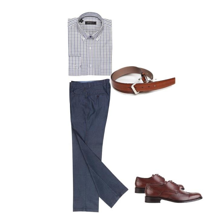 Her zaman çekici! Hafta sonu klasik pantolon ve kareli gömlekleri tercih edebilirsiniz.