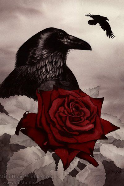 The Rose and the Raven by MistiqueStudio