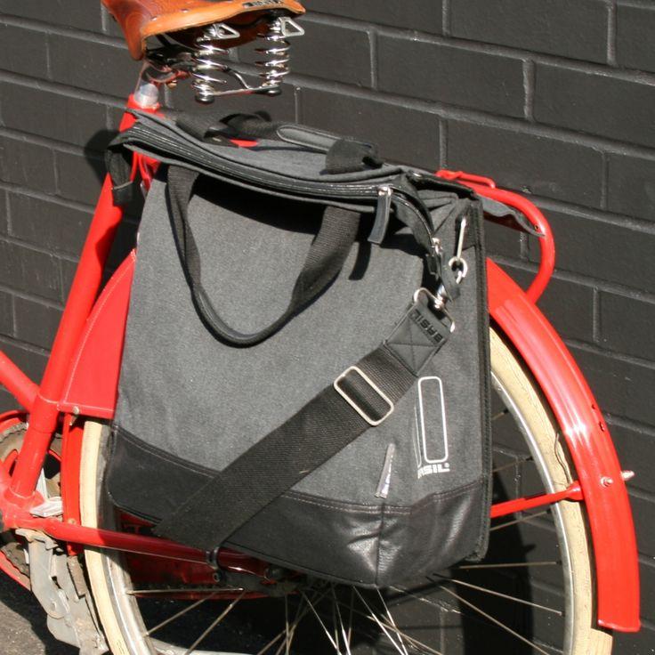 Basil Urban Fold Bike Pannier Charcoal   Cyclechic   Cyclechic