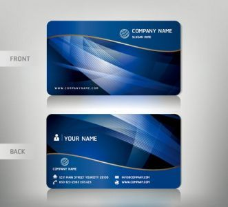 Personalized business card vectors